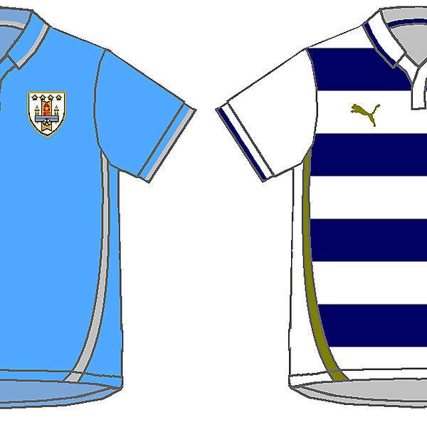 Uruguay Home and Away Kits