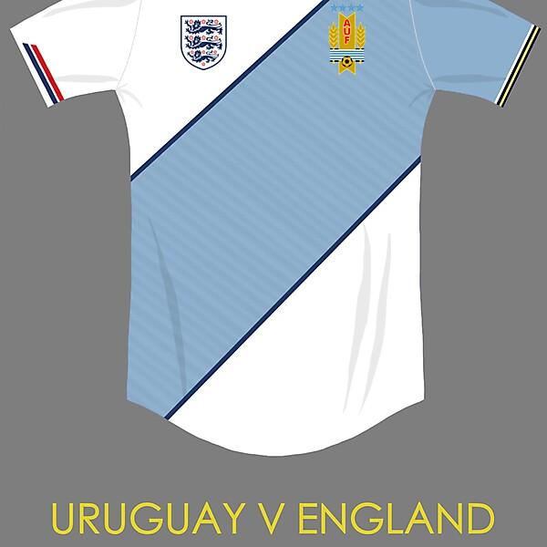 Uruguay v england combined kit concept