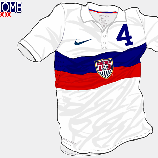 USA Home Shirt (Redo) (WC Brazil 2014)