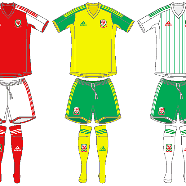 Wales Adidas Kits