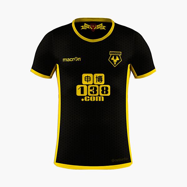 Watford FC - Macron Away Kit ecbd1f973
