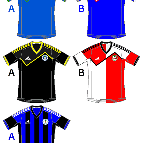 Wigan Athletic Adidas Home, Away and Third