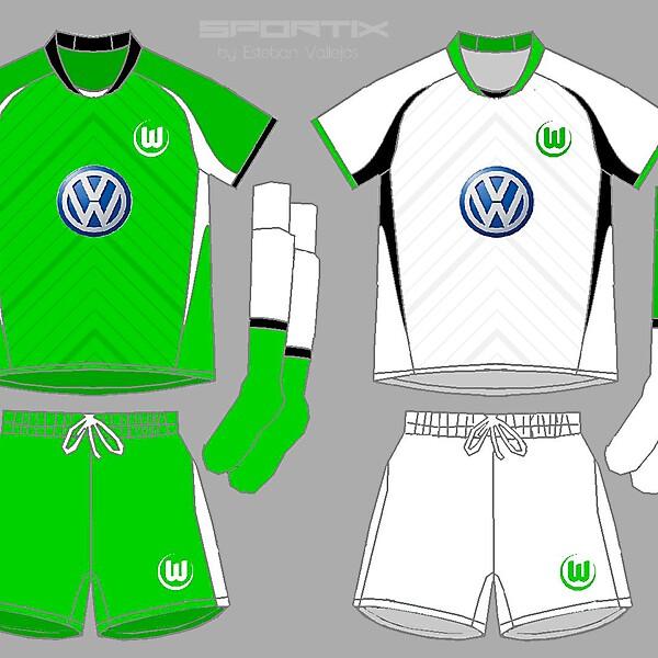 Wolfsburg Home 6 away Soccer Jersey