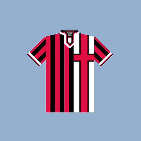 AC Milan home jersey concept.