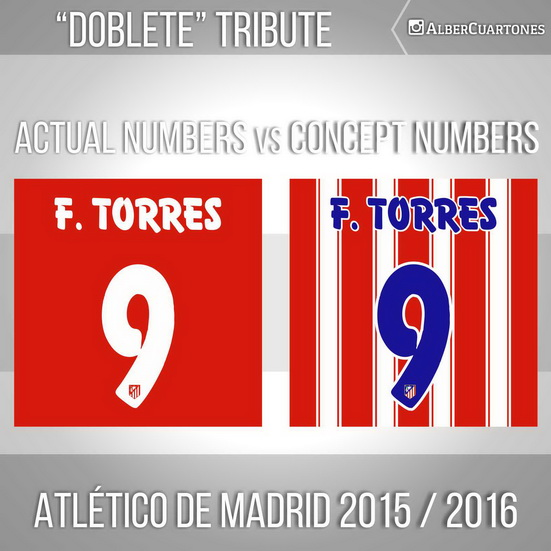 Atlético de Madrid 2015 / 2016 Concept Numbers