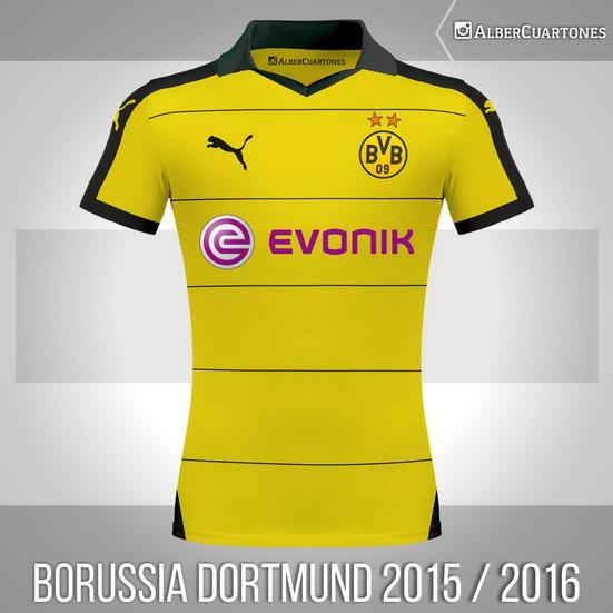 Borussia Dortmund 2015 / 2016 Home Shirt