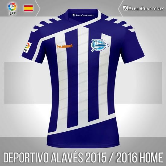 Deportivo Alavés 2015 / 2016 Home Shirt