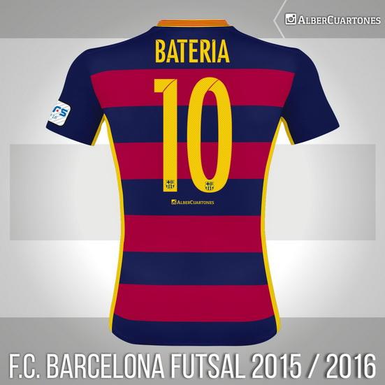 F.C. Barcelona Futsal 2015 / 2016 Home Shirt