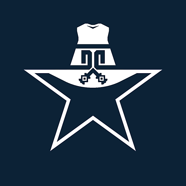 If Dallas were a soccer team, update on their iconic star logo.