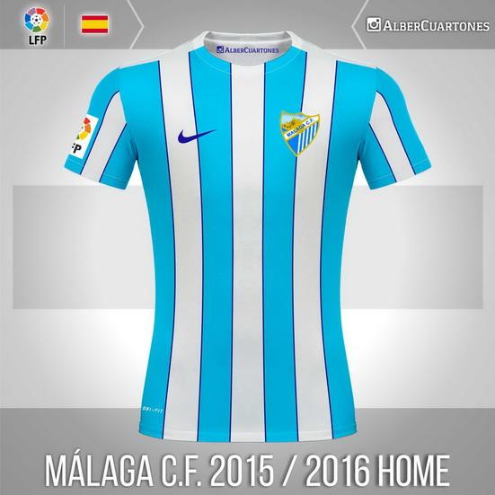 Málaga C.F. 2015 / 2016 Home Shirt