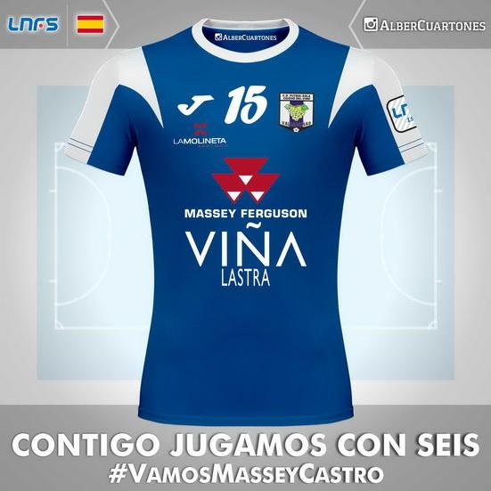 Valdepeñas Futsal 2015 / 2016 Home Shirt