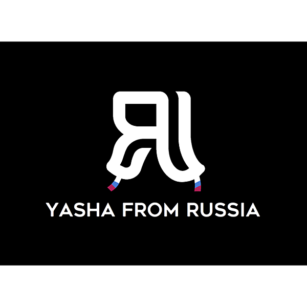 Yasha from Russia sponsor logo concept.