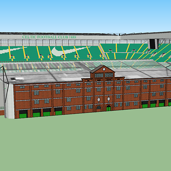 Celtic Park with Archibald Leitch Facade