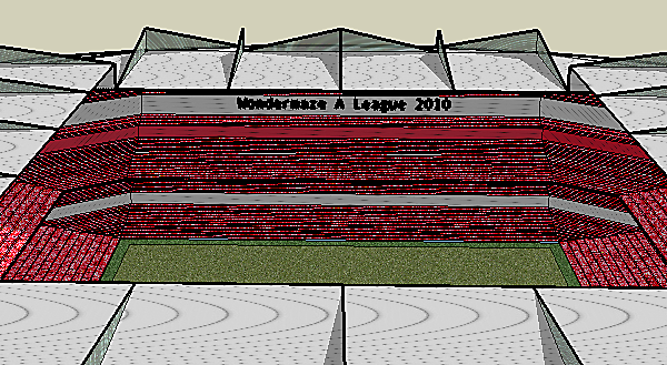 Modern Style Football Stadium.