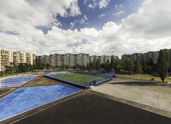 nike renovated football pitch ukraine