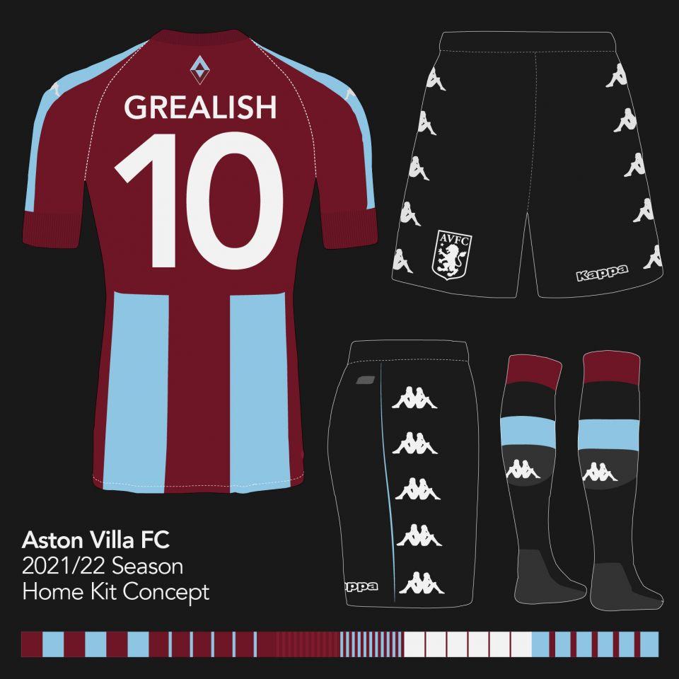 Aston Villa 2021/22 Home Concept - back