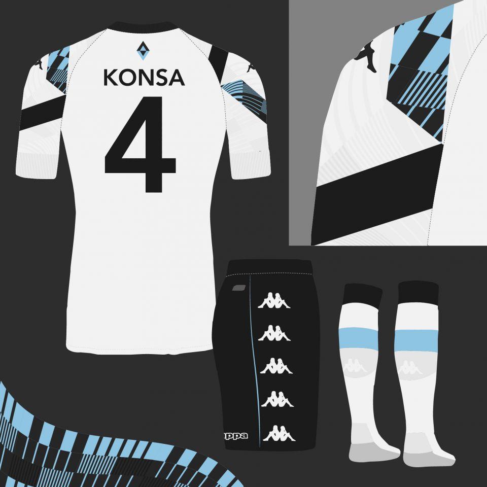 Aston Villa 2021/22 Away Kit Concept - back