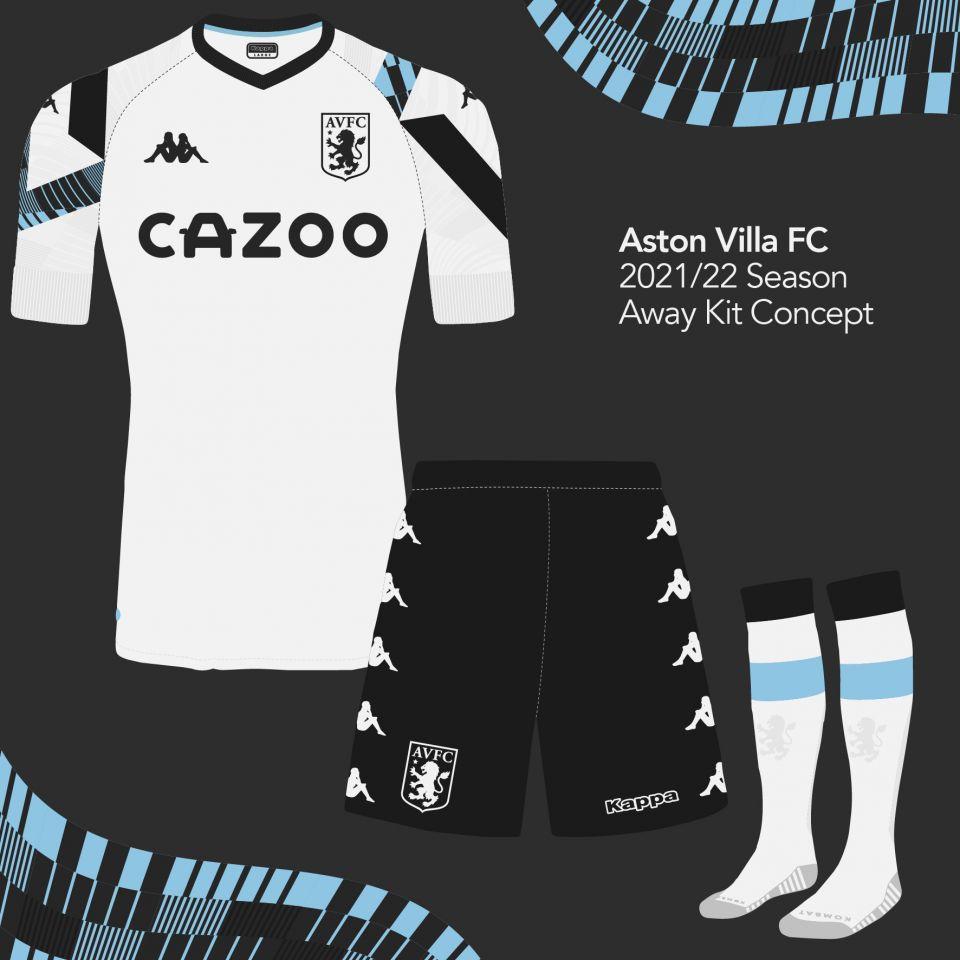 Aston Villa 2021/22 Away Kit Concept - front