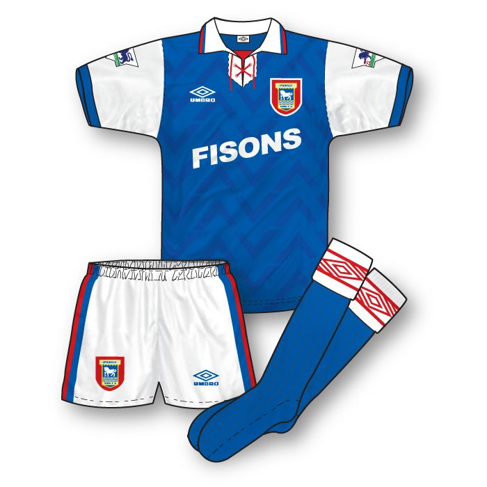 Ipswich Town 1992-93 Home Kit