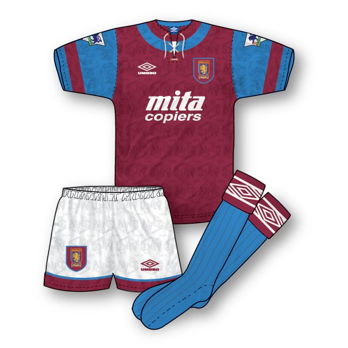 Aston Villa 1992-93 Home Kit